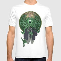 Eye of Cthulhu MEDIUM Mens Fitted Tee White