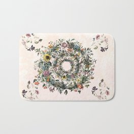 Circle of life- floral Bath Mat