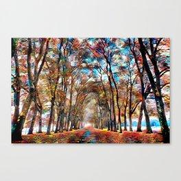 A vivid fall drive Canvas Print