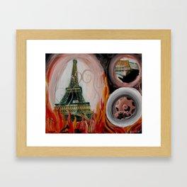 Eiffel T(p)ower Framed Art Print