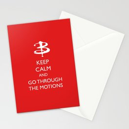 Go through the motions Stationery Cards