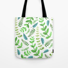 Greenery Leaves Pattern Tote Bag