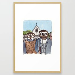 American Slothic  Framed Art Print