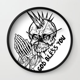 God Bless You Wall Clock