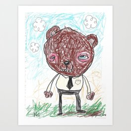 Business Bear Art Print