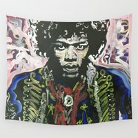 woodstock Wall Tapestries featuring Up From the Skies by Matt Pecson