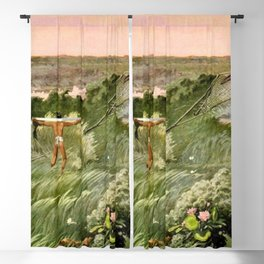 "Classical Masterpiece ""Egyptian Fowlers Clap-net"" by Herbert Herget. Blackout Curtain"