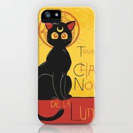 Chat Noir de la Lune iPhone Case