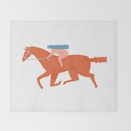 Naked derby Throw Blanket
