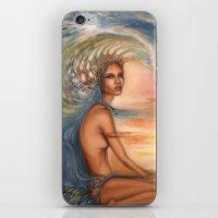 siren iPhone & iPod Skins featuring Siren by Erica Wexler