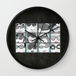 Goggles & Glasses horizontal Wall Clock