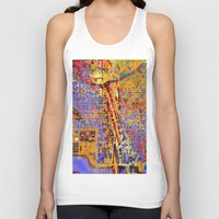 chicago Tank Tops featuring chicago by donphil