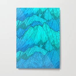 The Cool Blue Mounts Metal Print