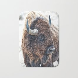 Bison the Mighty Beast Bath Mat