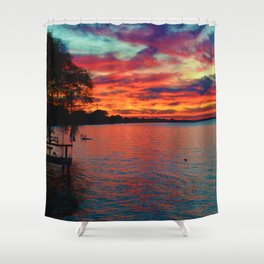 Sunset on Lake St. Clair in Belle River, Ontario, Canada Shower Curtain