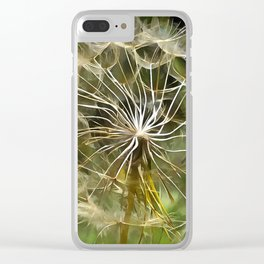 Tragopogon Wildflower Salsify Clear iPhone Case