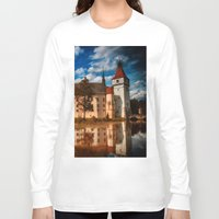 castle in the sky Long Sleeve T-shirts featuring Castle by DistinctyDesign