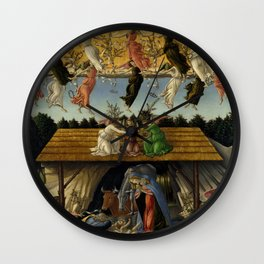 "Sandro Botticelli ""The Mystical Nativity"" Wall Clock"
