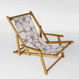 Simply Shibori Stars in Red Earth on Lunar Gray Sling Chair