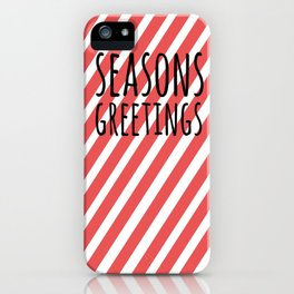 Season greetings polka iPhone Case
