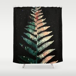 Watercolour Fern Leaf Shower Curtain