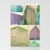 buildings Stationery Cards featuring Buildings by Sarah Brust
