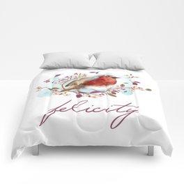 Robin - Bird Watercolor Comforters