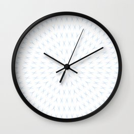 PCT2 Fractal in Ice Blue on White Wall Clock