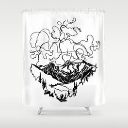 Smoke Show :: Single Line Shower Curtain