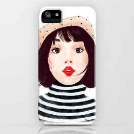 French woman iPhone Case