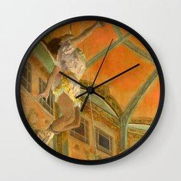 """Edgar Degas """"Miss La La at the Cirque Fernando"""" Wall Clock"""