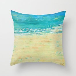 Get to the Beach! Throw Pillow