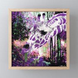 GIRAFFE FANTASY ENCOUNTER FOREST DREAM Framed Mini Art Print