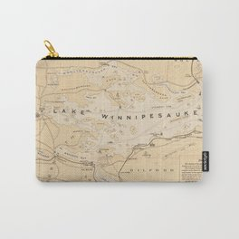 Vintage Map of Lake Winnipesaukee (1896) Carry-All Pouch
