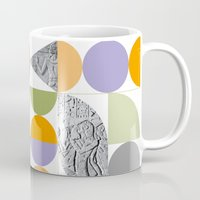 egypt Mugs featuring Geometric Egypt by k8goff