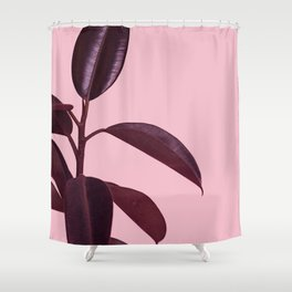 Burgundy Rubber Plant Shower Curtain