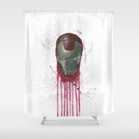 iron man Shower Curtains featuring Iron Man by McCoy