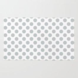 Light Grey Polka Dots Pattern Rug