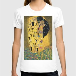 Curly version of The Kiss by Klimt T-Shirt