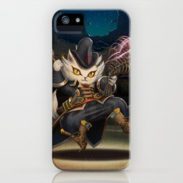 cute cat in magic iPhone Case