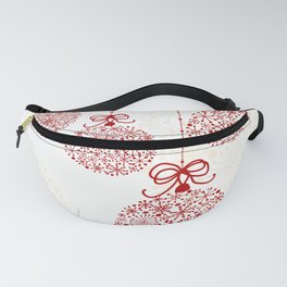 Christmas Baubles Made Of Snowflakes Fanny Pack