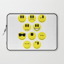 Yellow Face Emotions Laptop Sleeve