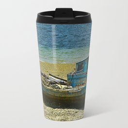Blue Boat Travel Mug