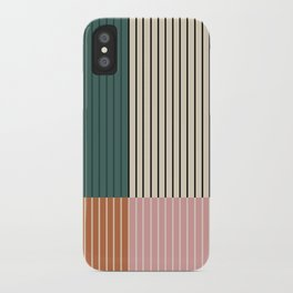 Color Block Lines V iPhone Case