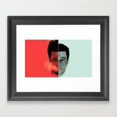 Tyler Durden V. the Narrator Framed Art Print