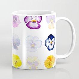 colorful pansies watercolor painting Coffee Mug