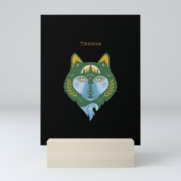 Takaya with Name - Black Mini Art Print