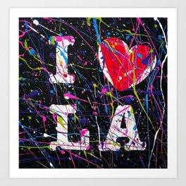 I Love L.A. Art Print