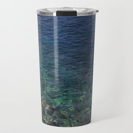 Colorful Transparent Blue and Aqua Sea On Crete Travel Mug