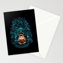 Kids, dont't read Necronomicon! Stationery Cards